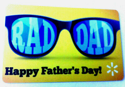 """Walmart Us Gift Card """"Happy Father's Day"""" Collectible Rechargeable"""