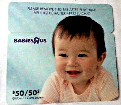 Toysrus Babiesrus Cute Baby Gift Card Rechargeable Bilingual Unscratched For Pin