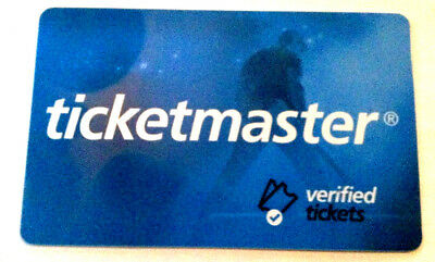 TICKET MASTER  Gift Card  NO VALUE ------0---balance rechargeable