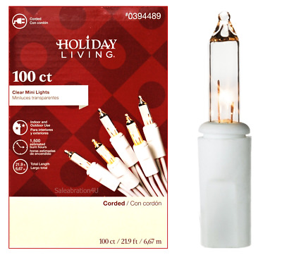 Deck Lights Holiday Living 99506 Wedding 25 Count C-9 Clear  Christmas