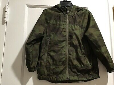Baby Gap Green Camo lined Rain Jacket Size 4 Years EUC  Free Shipping