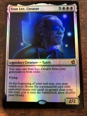 Stan Lee Marvel Magic The Gathering MTG card Planeswalker Hulk Wolverine