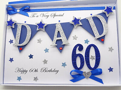 Personalised Handmade Birthday Card Son, Dad 30,40,50,60,70,80 any age Gift Box