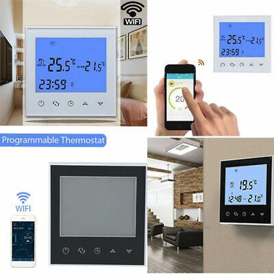Wifi LCD Wireless Smart Programmable Thermostat Electric Heating App Control UK