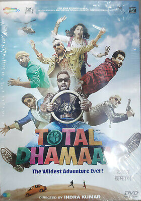 Total Dhamaal DVD - 2019 Bollywood Movie DVD (Region Free, English Subtitles)