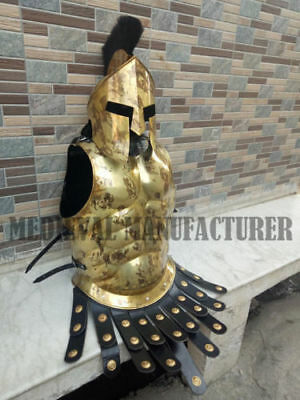 Armor Roman Muscle Jacket Brass Antique Medieval