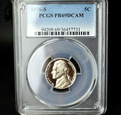 1976-S Jefferson Nickel Proof~PCGS PR69DCAM~Deep Cameo~