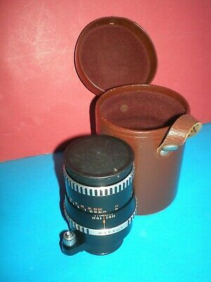 Rare lens CARL ZEISS JENA SONNAR 4/135mm, mount for Exakta system + leather tube