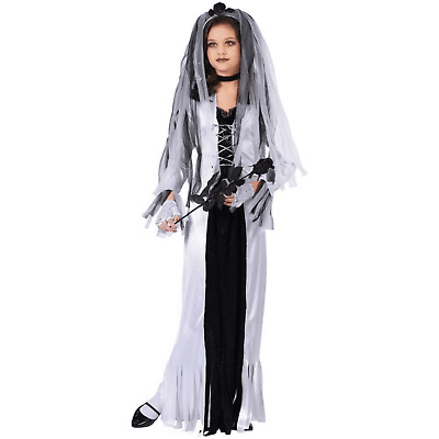 Frankies Bride Costume for Girls size 8-10 /& 12-14 New by Fun World 123462