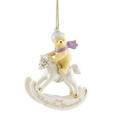 2019 Winnie the Pooh Baby's 1st Christmas Ornament by Lenox