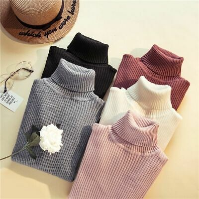 Thick Warm Turtleneck Sweater Women Autumn Winter Knitted Soft Solid Pullover