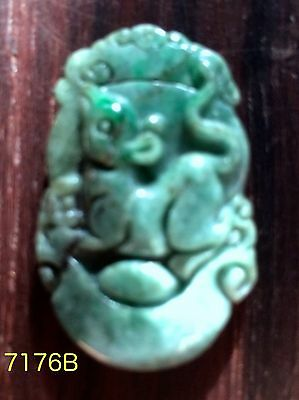 Natural Untreated Jade Tablet/Pendant, (7176B) (7190A) (7106) (7207)