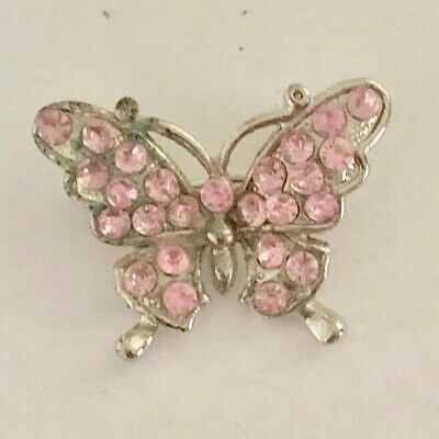 Vintage Gold Tone Signed Schrager Figural Butterfly Pin Brooch Costume Jewelry