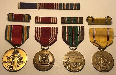 NOS WWII Asiatic-Pacific Campaign Medal /& Ribbon w//Box *NEW* 71-M-919-575