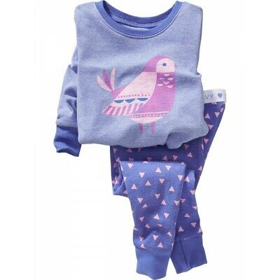 NWT Old Navy Bird Pajamas PJs 2PC 3T Toddler Girl