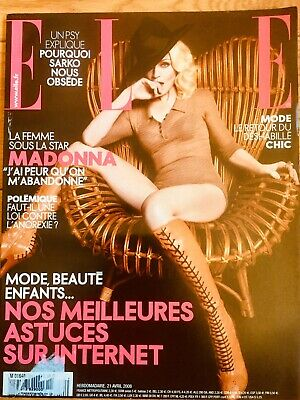 Madonna Elle Rare French Magazine  Aug 2008 + 8 Page Article - Madame X