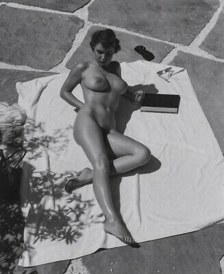 1960s Large Format Nude Photo~Andre de Dienes~Perfect Firm Breasts Pinup Outside