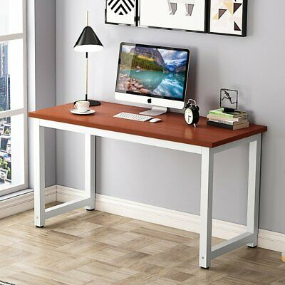 New Home Office Desk Corner Computer PC Writing Table WorkStation Wooden & Metal