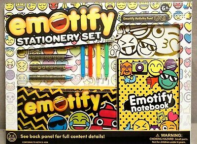 Emotify Stationery Set/age 6+/Activity Fun BY ANKER Play New & Sealed