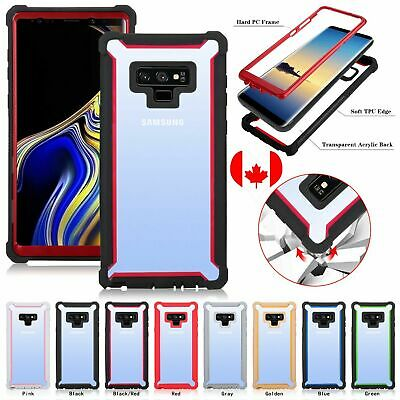 For Samsung Note9 Note 8 S8 S9 S10 Plus Clear Rigid Hybrid Shockproof Back Case