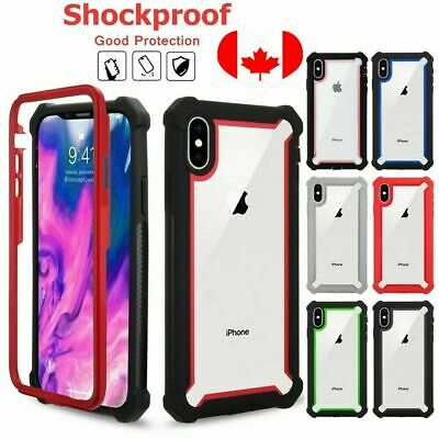 For iPhone XS MAX XR 7 8 Plus 6s Clear Case Rigid Hybrid Shockproof Back Cover