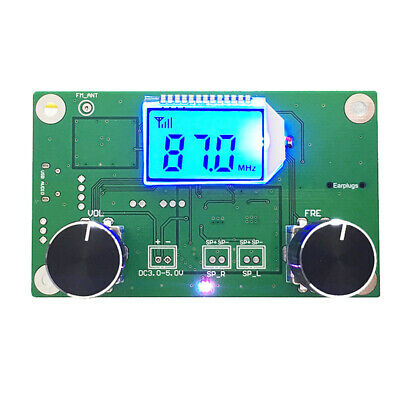 FM radio receiver module frequency modulation stereo receiving PCB circuit board