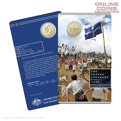 2019 RAM $1 Uncirculated Coin In Card - Mutiny and Rebellion - Eureka Stockade
