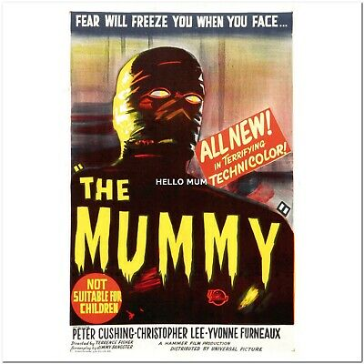 VINTAGE THE MUMMY MOVIE POSTER A4 PRINT