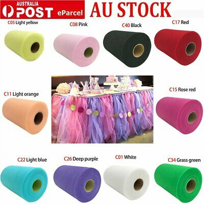 """6""""X100  Yards Tutu Tulle Roll Spool Wedding Party Decoration Gift Wrap Craft Bow"""