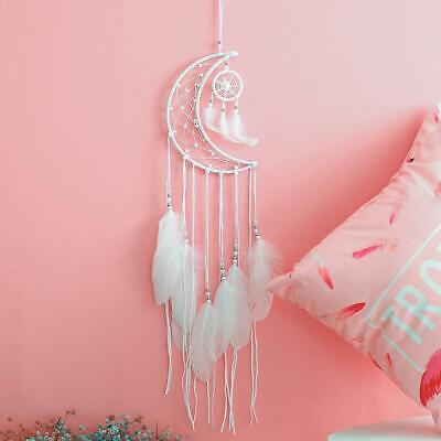Handmade Moon Dream Catcher Net Hanging Home Car Decoration Decor Craft Gift CH