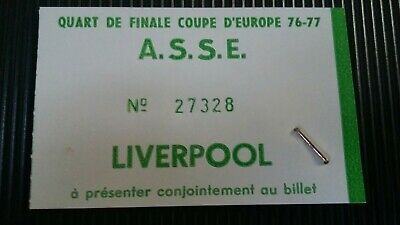 St saint Etienne Asse  Liverpool Ticket Rare used european cup 1977