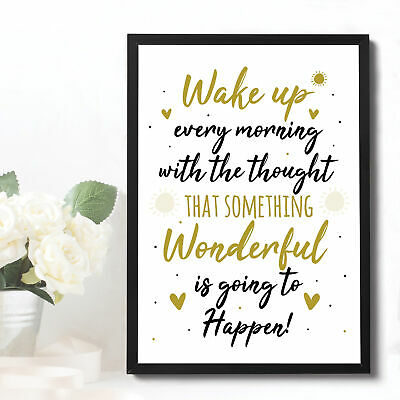 Inspirational Motivational Positive Quote Framed Print Birthday Friendship Gifts