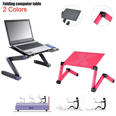 Portable Tray Stand Foldable 360° Laptop Table Networking Cooling fans Mouse