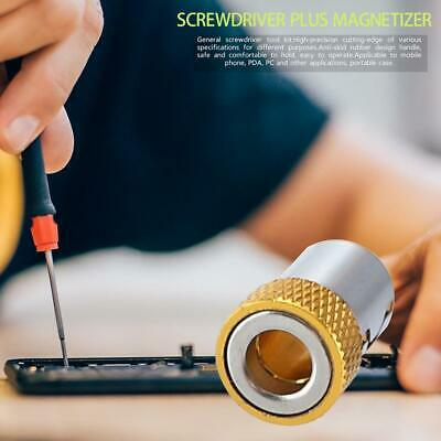 """Screwdriver Bits Stainless Steel Ring 1/4"""" 6.35mm Metal Strong Magnetizer Best"""