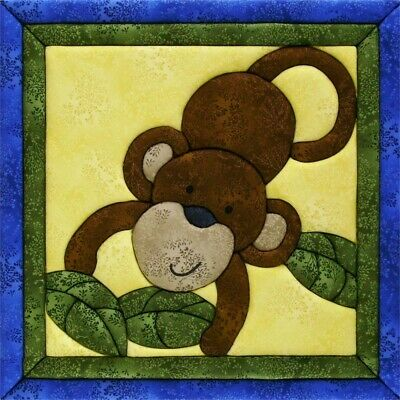 Quilt-magic No Sew Wall Hanging Kit-monkey