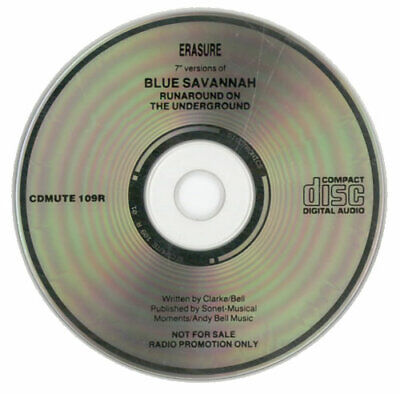 "Erasure Blue Savannah CD single (CD5 / 5"") UK promo CDMUTE109R MUTE 1990"