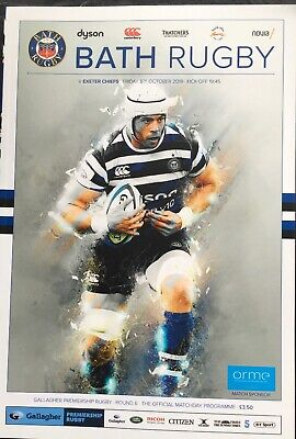 Bath Rugby V Exeter Chiefs 5/10/18 Mint