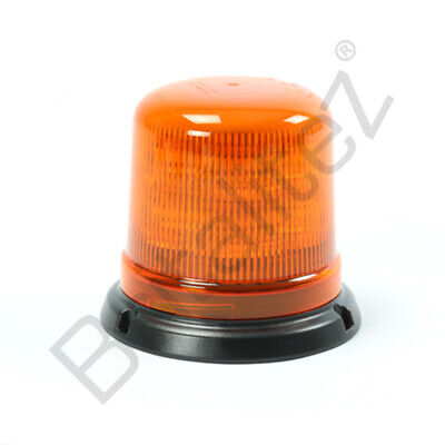 3-Bolt B14 Amber Beacon, ECE R65, LED Beacon 14 Flash Pattern, Tractor Beacon