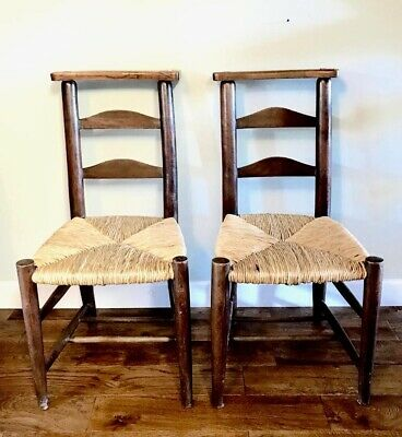 Superb Elm Chairs Antique Pair St Pauls Cathedral Royal Chapel London Victorian