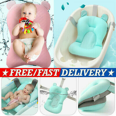 Baby Bath Pad Non-Slip Bathtub Mat New Born Safety Security Bath Seat Support WO