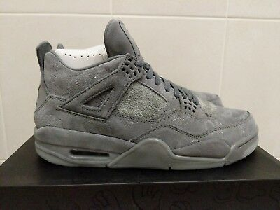 san francisco badda 3ad54 NIKE AIR JORDAN 4 x KAWS Grey Suede UK8.5 New - £1,500.00 ...