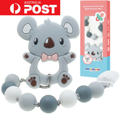 Baby Koala Teething Toy with Dummy Clip Soother Chain Teether Pacifier Clip Bead