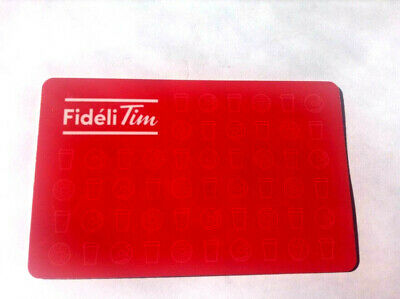 Tim Horton's Fideli Tim Reward Card French Collectible rechargeable 0 balance