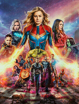 Avengers Endgame Poster   A4 A3 & A3+ Sizes Laminated   HD Print   Movie Marvel