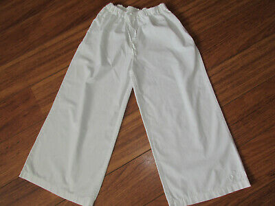 Ladies White 3/4 Length Cotton Trousers Size Small by Per Una M & S