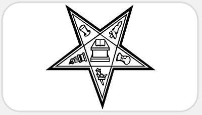 Order of The Eastern Star - 25 Stickers Pack 2.25 x 1.25 inches - Logo Symbol