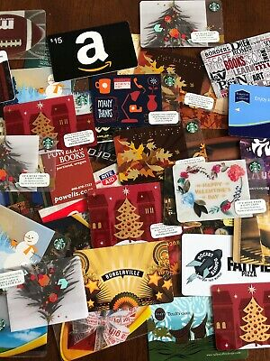 Huge Lot Of Empty Gift Cards - Collectable!