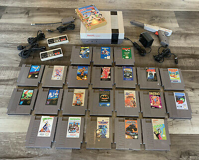 NINTENDO NES TOP Loader Console, Controllers, Guns and Game Lot of