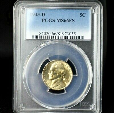 1943-D Jefferson Nickel~PCGS MS66FS~35% Silver~!
