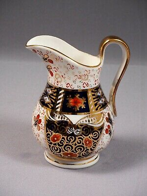 Bloor Derby Davenport Porcelain OLD IMARI 1800's Jug Pitcher Milk Creamer 2614